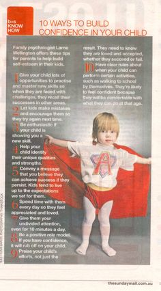10 ways to build confidence in your child.#parenting #confidence