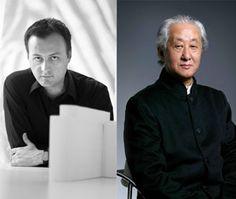 Gli architetti Andrea Maffei e Arata Isozaki