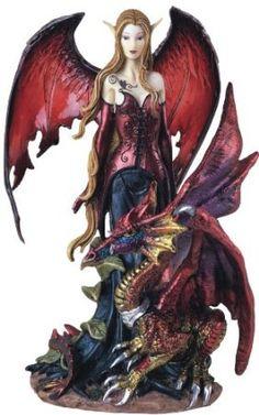 Amazon.com: Fairy Collection Pixie With Dragon Fantasy Figurine Figure Decoration: Home & Kitchen