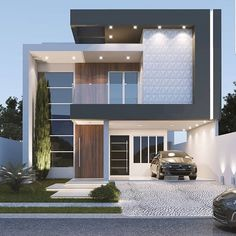 ❤️ Model Rendering Design & Visualization By unknown. Duplex House Design, House Exterior, Bungalow House Design, House Architecture Design, Home Building Design, Building A House, House Designs Exterior