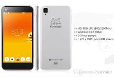 Top Ten Smart Phone Viewsonic V500 5.5inch 4g Fdd Lte Qualcomm Msm8926 Quad Core Cell Phone Android 4.4 Os 2gb+16gb 13mp Camera Dual Sim 3g Smartphone Smartphone Gps