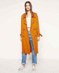 ZARA - WOMAN - TRENCH COAT WITH HORN BUTTON