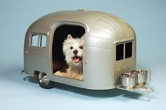 Pet Camper. It's adorable and I want one for my dog (although I think I'd appreciate it more than he would! Haha).  #DogBed #Animals #Pets