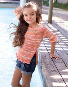 Tropic 70 #katiayarns #knitting #patterns #spring #summer #romantic #colors #lime #orange #mandarine #yellow #marshmallow