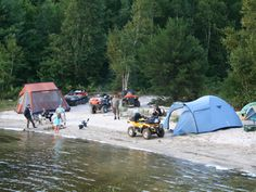 """Central Ontario ATV Club hold this """"Ride in and Camp"""" each year. Participants ride for several hours to a remote camp destination and set up."""