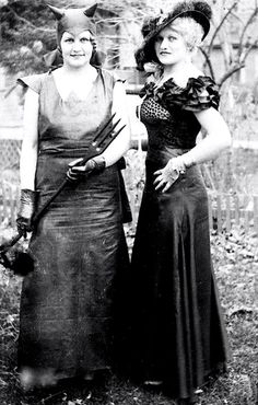 The Garton Sisters as The Devil and Mae West, Halloween 1928