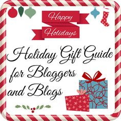 Holiday gift guide fr blogs and bloggers. Part 2 - services and design.
