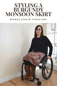 Want to know how I style a burgundy Monsoon skirt? Check out this post for a great smart casual outfit. Perfect for wheelchair users & able bodied alike.