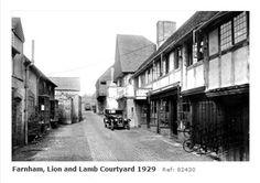 Farnham Lion and Lamb Yard. Farnham Surrey, Lion And Lamb, My Favorite Image, England, Yard, Places, Beautiful, Patio, Courtyards