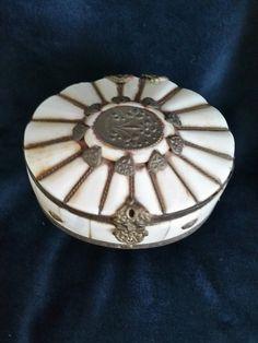 Vntage Trinket Box Vintage Bone and by RoseMackenzieEstate on Etsy