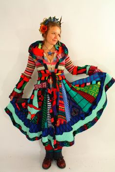 katwise on etsy makes some amazing long technicolor dream coats, made from sweaters :: she has a great eye :: http://www.etsy.com/shop/katwise?ref=seller_info