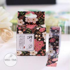 Masking Tape - Night garden flowers