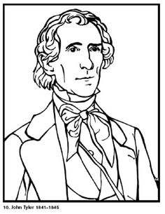 john tyler 10th president of the united states free printable coloring sheet click