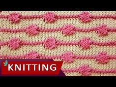 How to knit the String of Purls stitch. The two colour pattern is reversible making it a good choice for scarves. ++ For detailed written instructions, see: ...