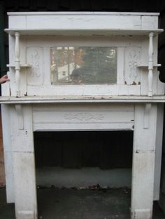Terrific Screen old Fireplace Mantels Tips Hottest Pictures vintage Fireplace Mantels Strategies Great Free victorian Fireplace Mantels Ideas Fireplace Mantle Headboard, Shabby Chic Fireplace, Old Fireplace, Farmhouse Fireplace, Modern Fireplace, Fireplace Design, Fireplace Ideas, Fireplace Cover, Mantle Ideas