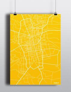 Łódź, mapa, maka'o