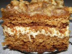 ciasto miodowo - orzechowe Polish Recipes, Polish Food, Christmas Sweets, Cake Cookies, Meatloaf, Oreo, Banana Bread, Food And Drink, Healthy Eating