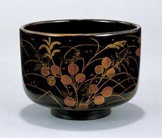 Matcha tea bowl「秋草蒔絵椀」