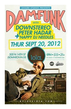DAM-FUNK W/ DOWNSTEREO & PETER HADAR AT LOLA  9/20