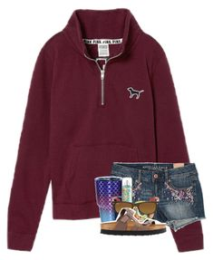 """I don't know how, I don't know how heaven could be better than this "" by patriciaroland ❤ liked on Polyvore featuring Victoria's Secret, American Eagle Outfitters, Ray-Ban and Birkenstock"