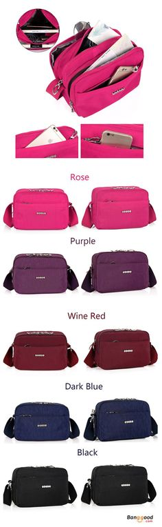 US$18.99+Free shipping. Women Bags, Shoulder Bag, Crossbody Bag, Waterproof, Large Capacity, Casual. Color: Rose, Black, Dark Blue, Purple, Wine Red. Shop now~