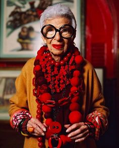 When I think about Iris Apfel, I find myself in a world or an era where imagination and joy reign. Iris Apfel, the fashion icon of 94 years known for her eccentric style, antique jewelry and her c…