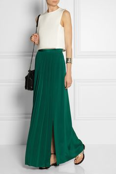 Trend for Spring 2015: TIBI Pleated washed silk maxi skirt via @stylelist | http://aol.it/1soH6hj