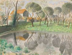 View Newt Pond by Eric Ravilious on artnet. Browse upcoming and past auction lots by Eric Ravilious. Dulwich Picture Gallery, English Artists, British Artists, Royal College Of Art, Tree Art, Landscape Paintings, Landscapes, Illustration Art, Illustrations