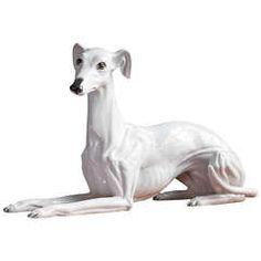 Italian Greyhound in Porcelain