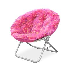 Spiker Faux Fur And Frame Saucer Chair
