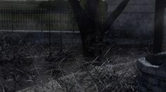Old cemetery scene.