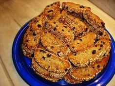 Greek Sweets, Greek Desserts, Greek Recipes, Italian Biscuits, Greek Cookies, Biscotti Cookies, Food Gallery, Chocolate Sweets, Lebanese Recipes