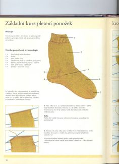 Základ pletení ponožek-návod