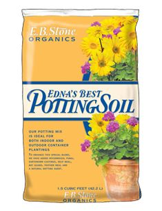 Edna's Best Potting Soil is our top choice for indoor and outdoor containers.