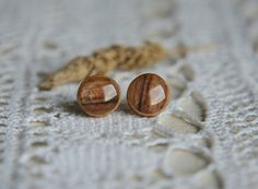 Woodland earrings woody forest stud earrings by MyPieceOfWood