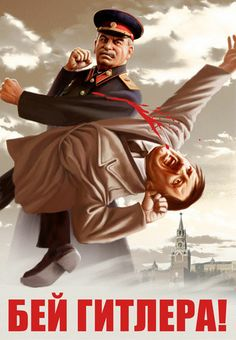 Post with 0 votes and 1121 views. PsBattle: Soviet Propaganda Poster, showing Stalin punching Hitler. Comics Vintage, Vintage Posters, Propaganda Ww2, Foto Portrait, Ww2 Posters, Soviet Art, World War Two, Wwii, Illustration