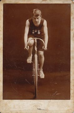 The Daily Postcard: Sepia Saturday - Vintage Bicycle Racing