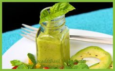 Avocado-Basil Vinaigrette #healthy #salad