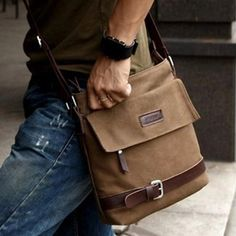 Men/boy's Vintage Canvas Leather Shoulder Bag Cross Body Brown Messenger Satchel | Clothing, Shoes & Accessories, Men's Accessories, Backpacks, Bags & Briefcases | eBay!