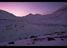 Pink skies over Norway