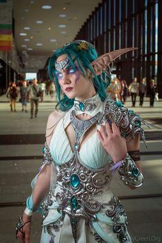 Tyrande whisperwind by - RandomOverload Cosplay Elf, Cosplay Armor, Cosplay Makeup, Halloween Cosplay, Cosplay Girls, Cosplay Outfits, Warcraft Art, World Of Warcraft, Anime Festival