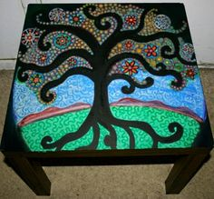 Tree Of Life Coffee Table by Rick Cheadle by FunkyArtGuy on Etsy