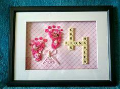 Baby girl button craft