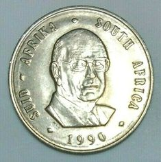 South Africa 1990 - 1 Rand Pieter W. 1 Rand, Commemorative Coins, East Africa, Old And New, African, Memories, Ebay, Art, Memoirs