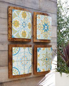 "-4B73 PARAGON DECORS ""Old World Tiles"" Wall Decor"