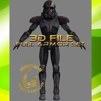 This is a digital file for 3D Printing a wearable Star Wars cosplay armor of Hunter, from Bad Batch episodes of Star Wars: The Clone Wars Season 7. We do offer printed armor for $590usd, just ask us! Bad Batch - Full Size Hunter armor Includes Armor, Rifle, Backpack, Helmet. Cold, quick, and deadly, Hunter was the no-nonsense warrior of special unit Clone Force 99, also called the Bad Batch. Cosplay Armor, Star Wars Clone Wars, Season 7, 3d Printing, Helmet, Backpack, Cold, Stars, Halloween