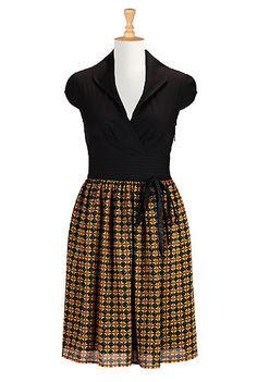 I <3 this Graphic print block dress from eShakti