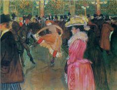 At the Moulin Rouge, The Dance, 1890  , Henri de Toulouse-Lautrec