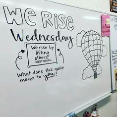 Daily Whiteboard Writing Prompts: Think About It Thursday Future Classroom, School Classroom, Classroom Ideas, Quotes For The Classroom, Classroom Meeting, Classroom Icebreakers, Classroom Board, Classroom Inspiration, Quotes For Students