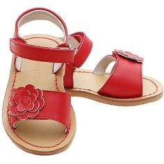Red Flower Patent Sandals Toddler Girls 5-Little Girls 2 (140 BRL) ❤ liked on Polyvore featuring baby, shoes, kids shoes, girls and kids